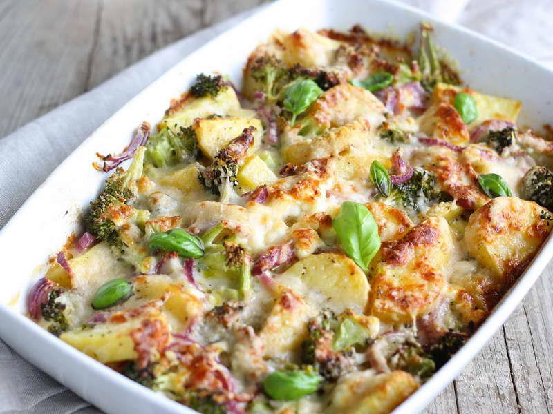 Sformato di patate broccoli e cipolla