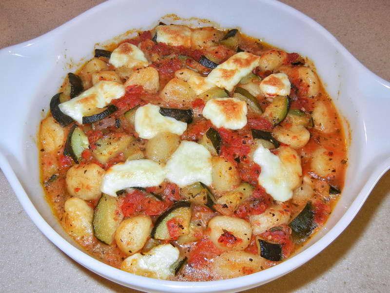 Gnocchi zucchine e mozzarella di bufala